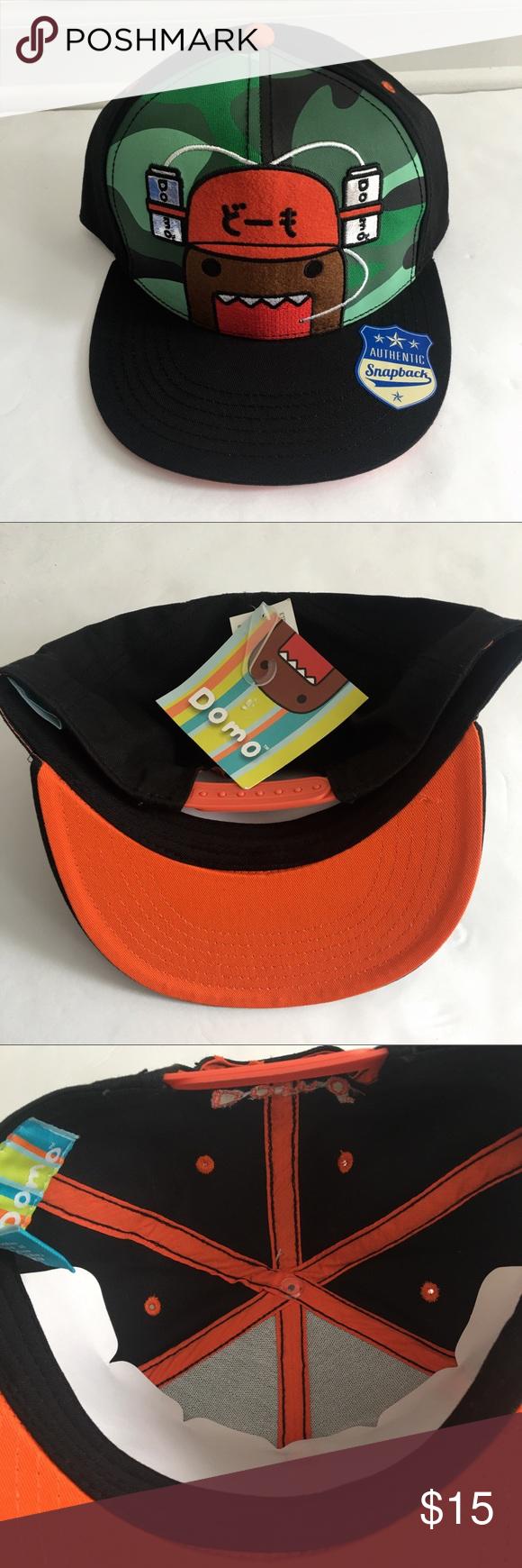 b751045b5 NWT DOMO Black SnapBack hat New DOMO Black SnapBack hat Japanese ...