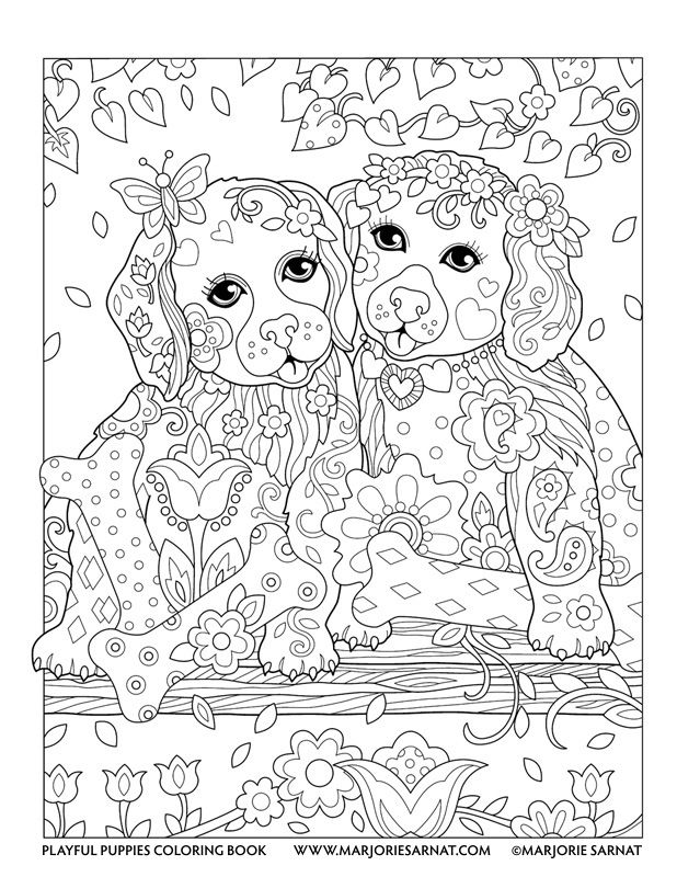 Puppy Coloring Pages For Adults