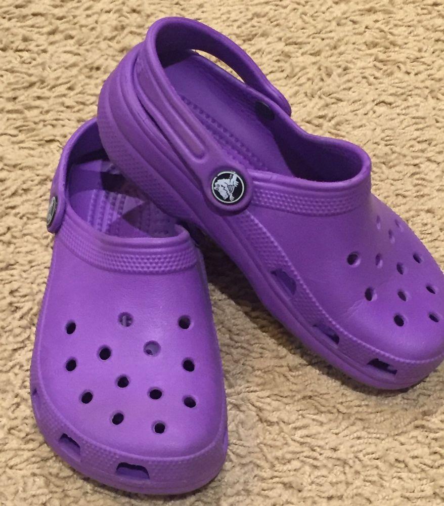 d2bcdbfeb Crocs Kid s Unisex Purple Crocs Size 12 13 GUC