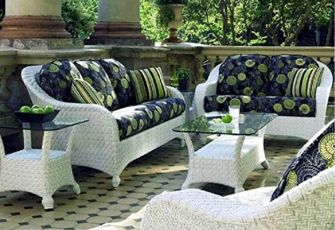 White Wicker Patio Furniture Clearance