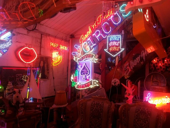 In neon heaven at God's own junkyard