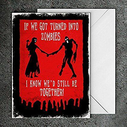 Wedding card anniversary card valentines day card zombie wedding wedding card anniversary card valentines day card zombie wedding card zombie greeting m4hsunfo