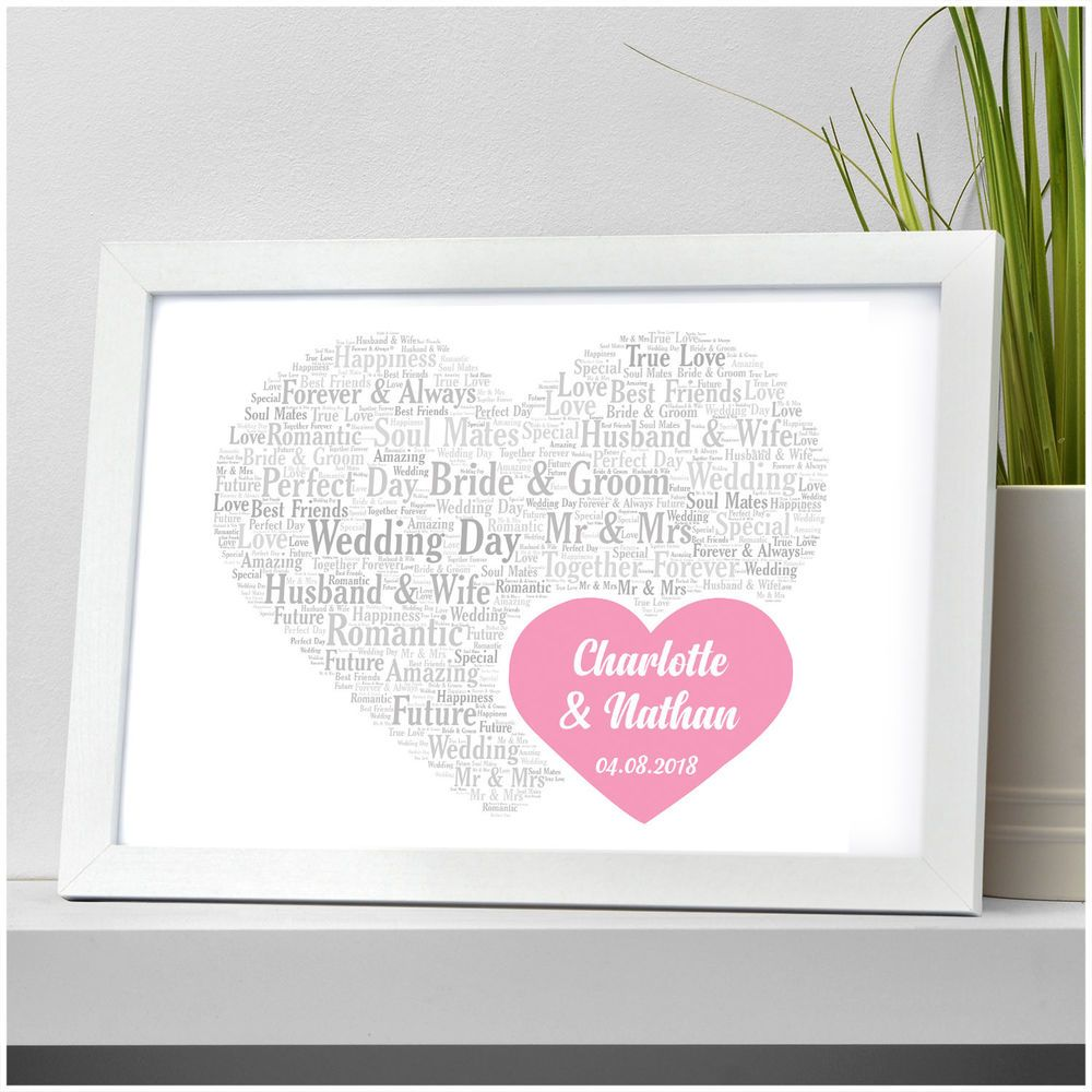 Personalised Wedding Gift Ideas For Couples Bride And Groom Mr Mrs Wedding Day Present Keepsake Ideas For Couples From Www Ebay Co Uk Beecrea Wedding Day Gifts
