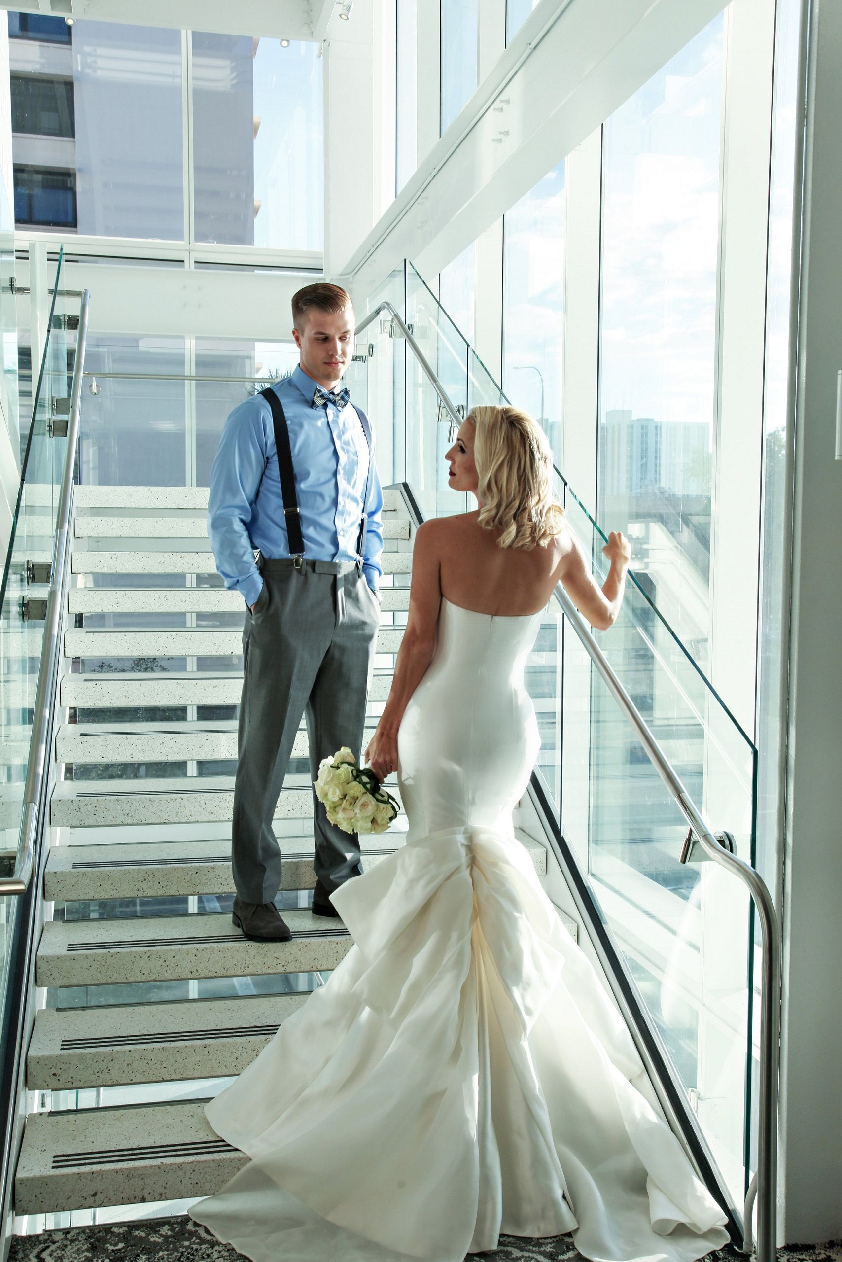 Strapless fit & flare wedding dress from Solutions Bridal in Orlando ...