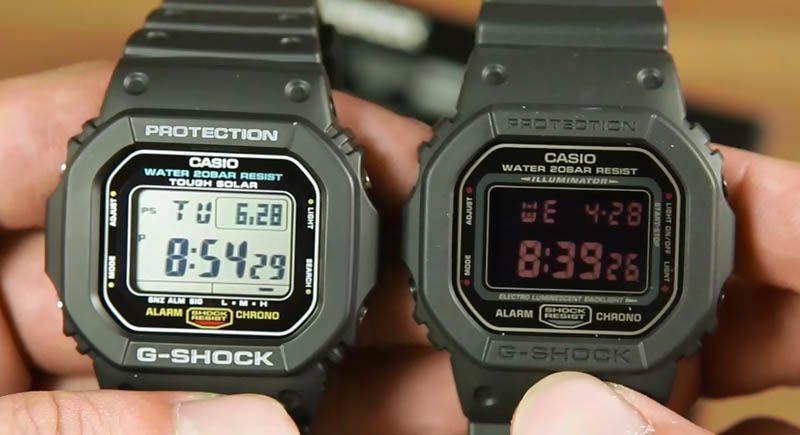 59286489df3 Membandingkan Casio G-shock G-5600E-1 dan G-shock DW-5600MS-1 ...