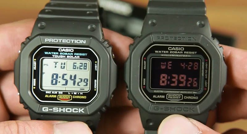 4ac9ce3f38ebd Membandingkan Casio G-shock G-5600E-1 dan G-shock DW-5600MS-1 ...