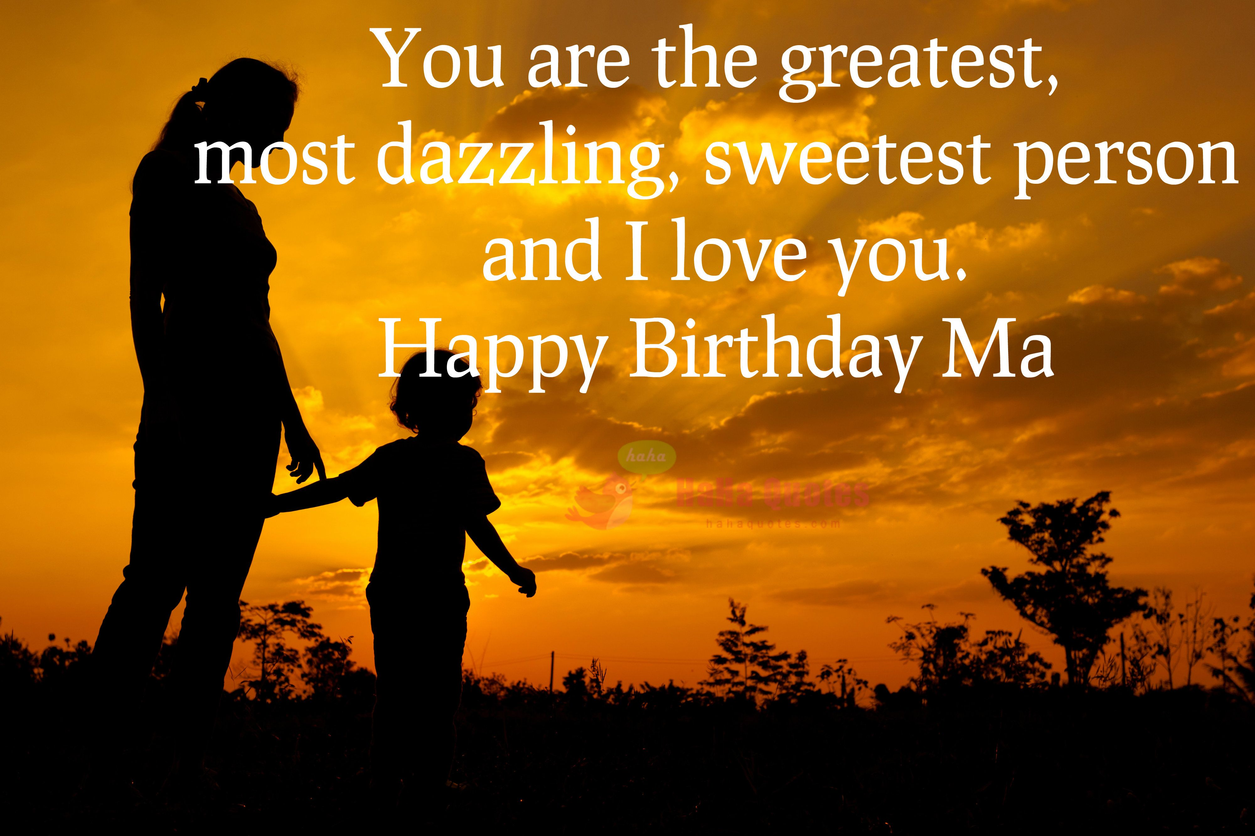 Happy birthday wishes for mother from daughterson with