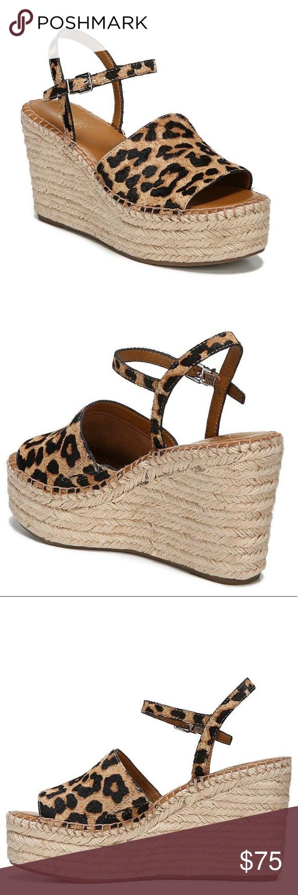 4c7f03b33162 Franco Sarto Tula Platform Espadrille Wedge Sandal New without box Leopard  print 3 3 4