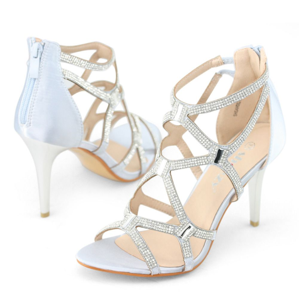 Silver Strappy High Heel Sandals | Shoes | Pinterest | Silver ...