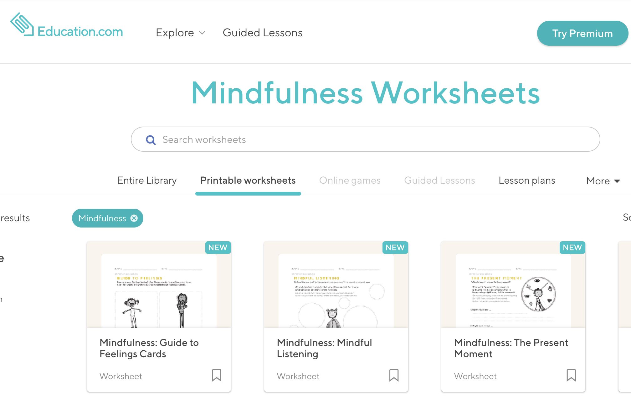 Mindfulness Worksheets Printables In