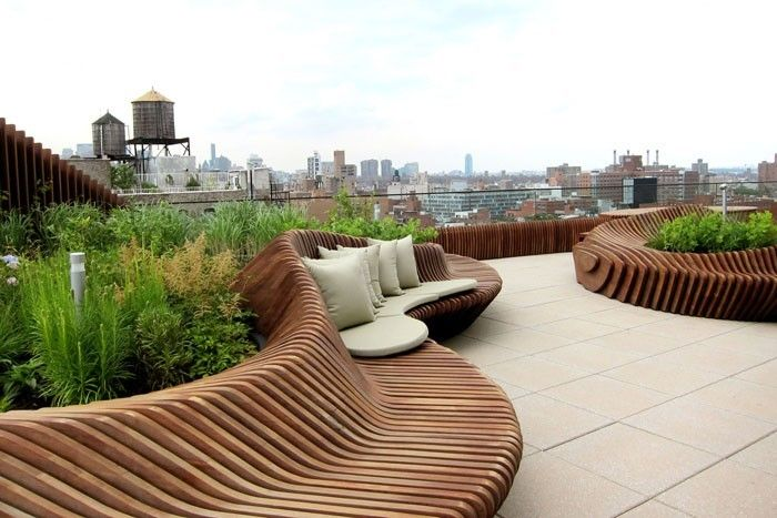der fr hling naht 49 coole ideen f r dachterrasse gestalten dachterrasse gestalten. Black Bedroom Furniture Sets. Home Design Ideas