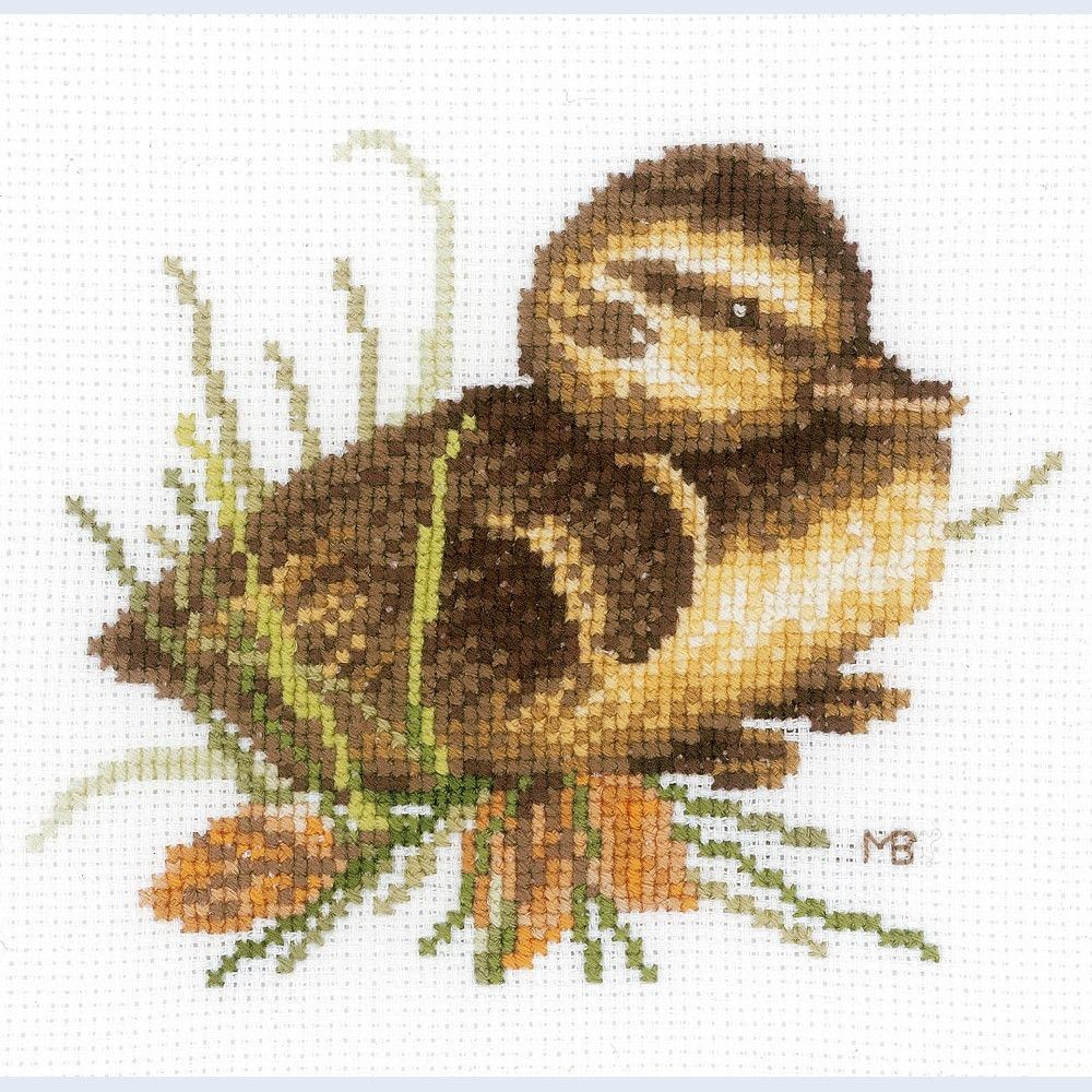 Duckling at Rest - Lanarte counted cross stitch kit