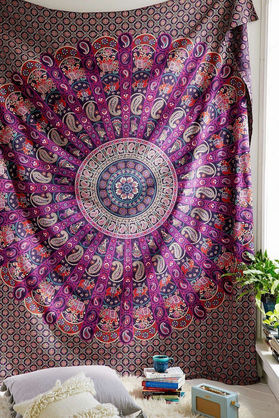 Urban Outfitters Tapestry Blue