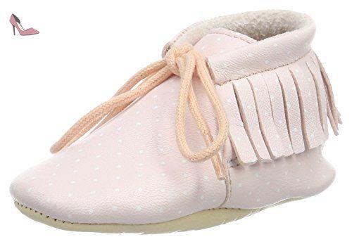 Easy Peasy Meximoo Print, Chaussures de Naissance Bébé Fille, Rose (Rose  Pale/