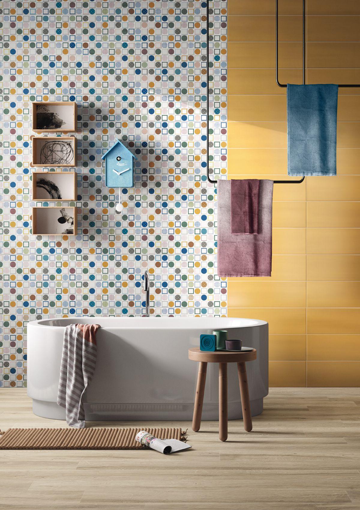 Salle De Bain Motif carrelage original motif salle de bain | idée salle de bain