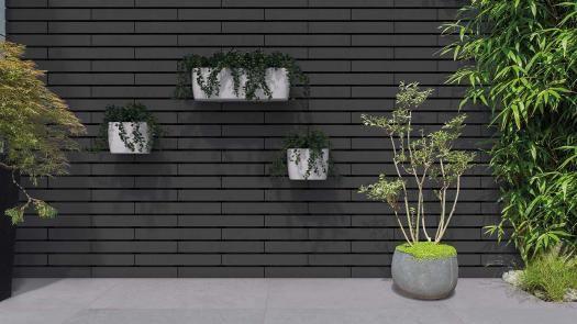 Muurelement Moodul Black Marlux Modern Outdoor Kitchen Garden Paving Garden Wall