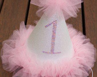 Custom baby girls Birthday Hat, 1st Birthday Hat