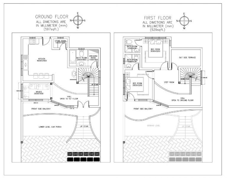 Modern House Plan 1126 Sq Feet News Focuz House Front Design House Plans House Design