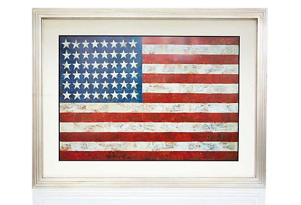 Jasper Johns Flag American Flag Wall Art
