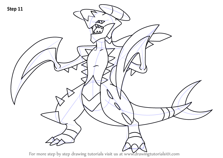 Learn How To Draw Garchomp From Pokemon Pokemon Step By Step Drawing Tutorials Cool Art Drawings Pokemon Drawings