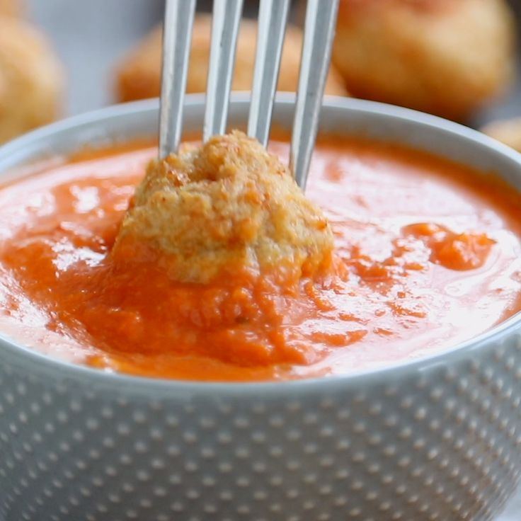 Best Anytime Baked Chicken Meatballs - Pinch of Yu