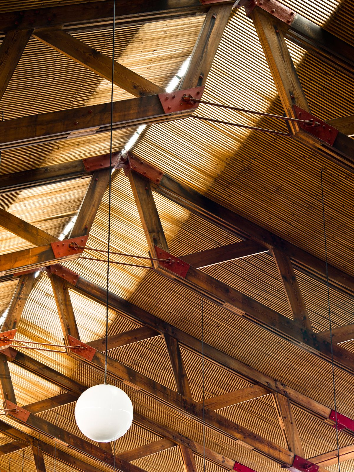 arched beams | Faux Wood Workshop |Modern Wood Trusses