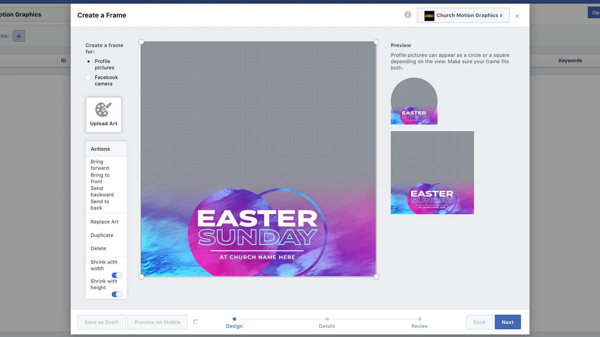 3 Free Foil Vibes Easter Facebook Profile Frames – CMG