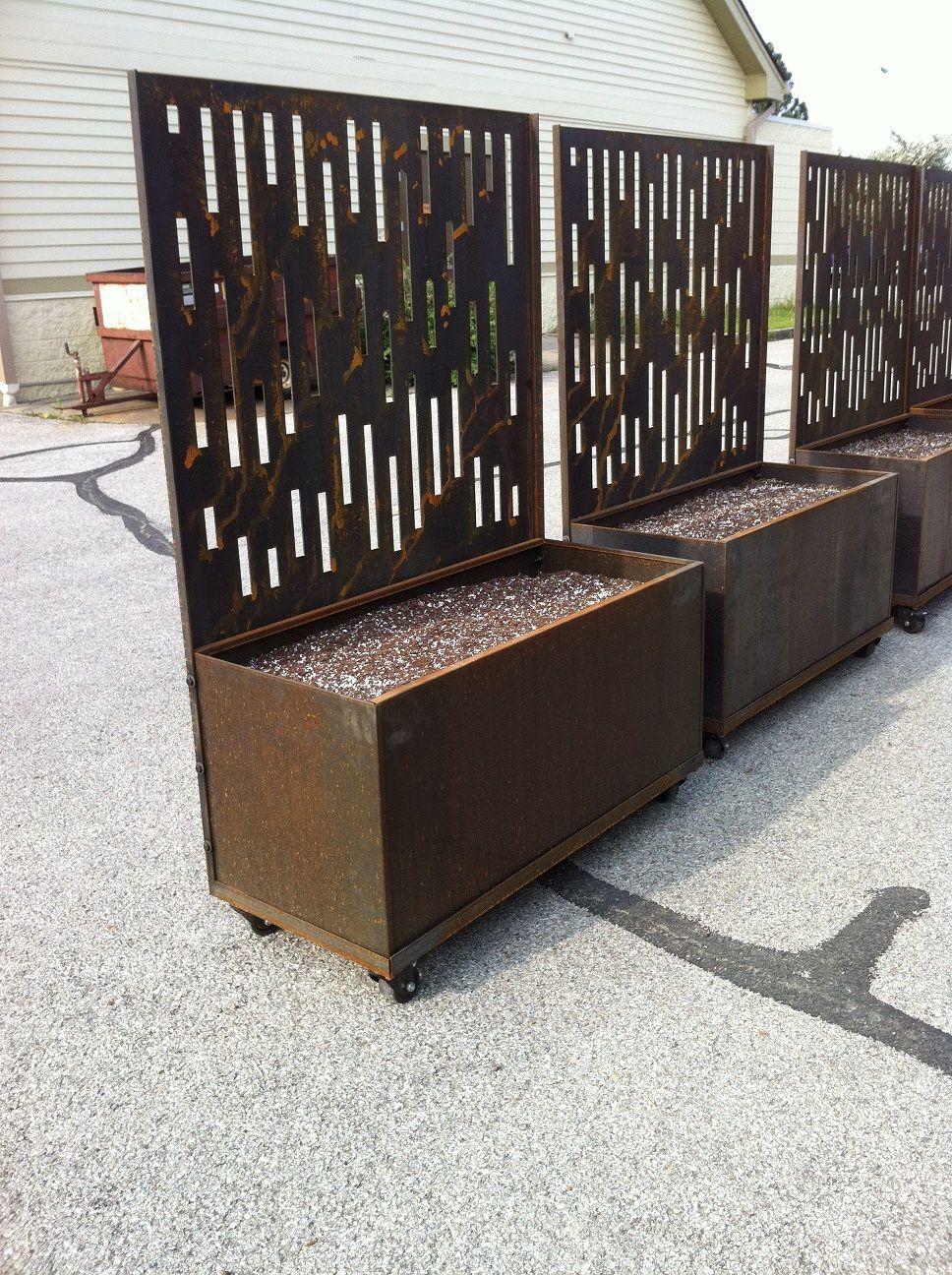 Corten Steel Planters Nice Planter LLC Privacy screen