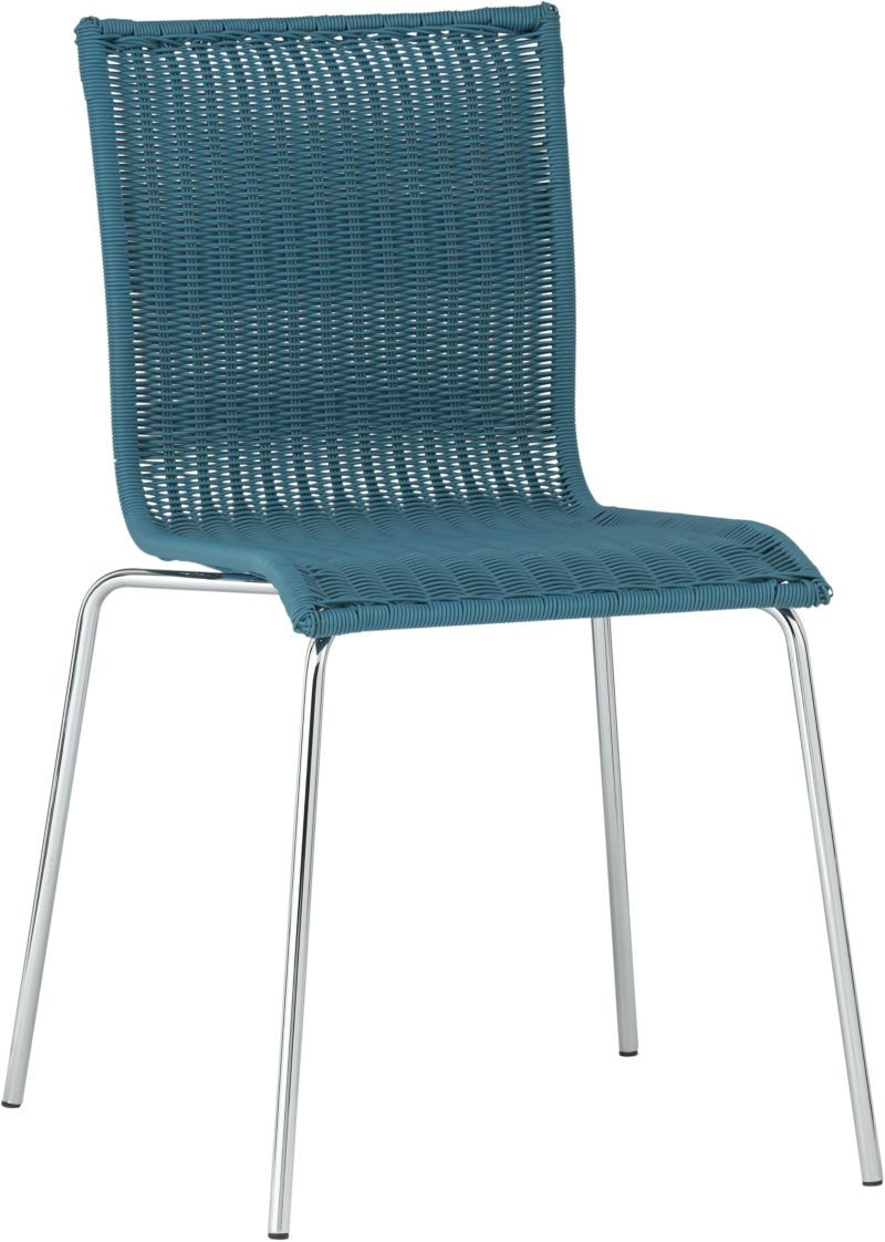 $79.95 Kitchenette Teal Stack Chair in Dining, Kitchen Chairs ...