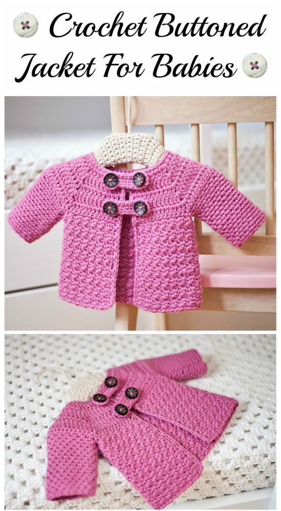 Free crochet pattern for baby and toddler cardigan sweater by pattern- paradise.com   a3c1f6b40037
