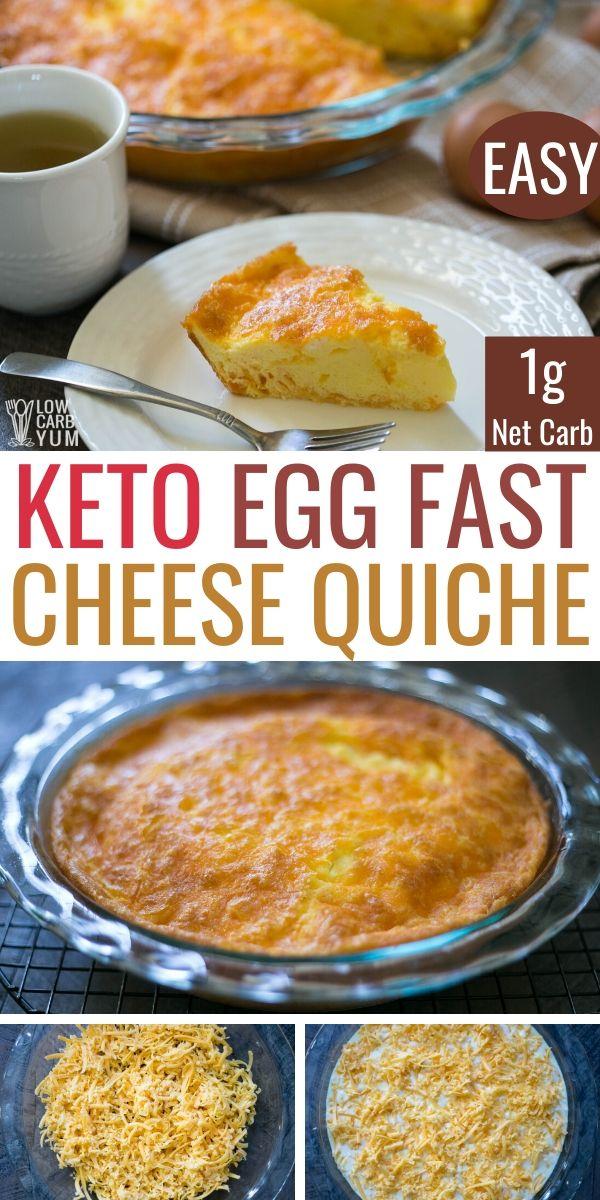 Keto Egg Fast Crustless Cheese Quiche Recipe