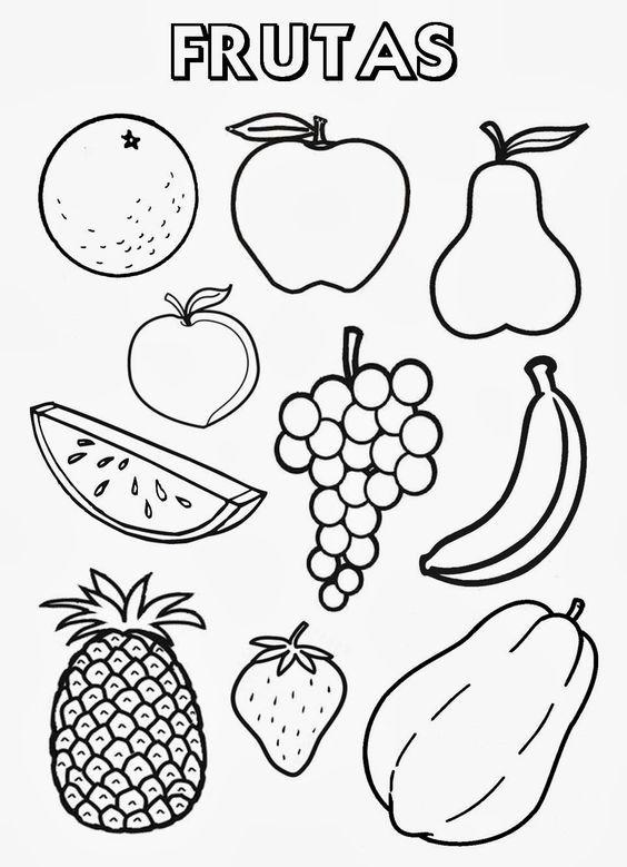 Frutas Coloring Page Desenhos De Frutas Alimentacao Saudavel