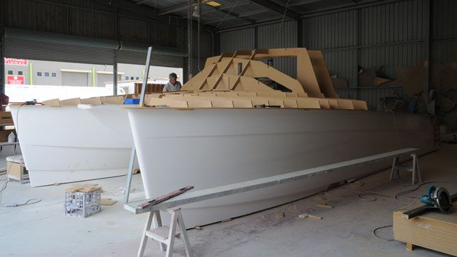 Building a motor cat with a CNC router and moulds. | Boat ...