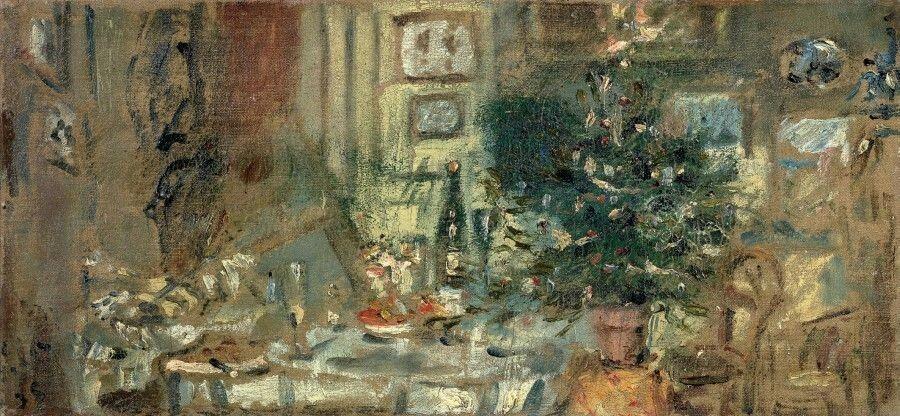 Christmas Tree  -  Filippo De Pisis, c. 1935  Italian ,1896-1956  Oil on canvas, 25,5x52,5