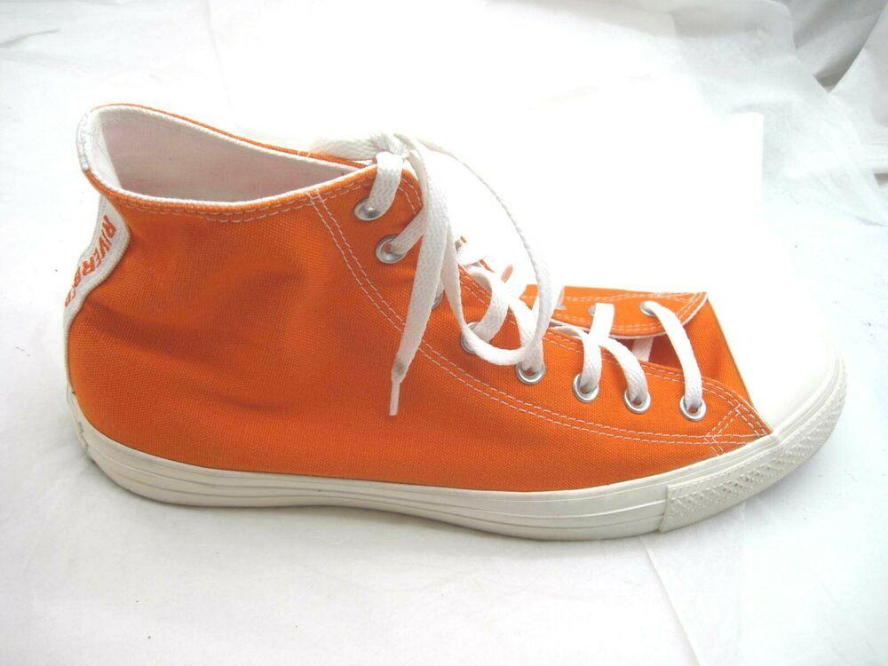 Converse River Bed orange sneakers mens canvas hightops tennis ...