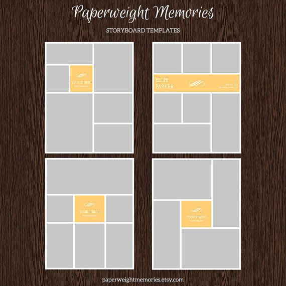 16x20 Photo Storyboard Templates Photo Collage Template Psd