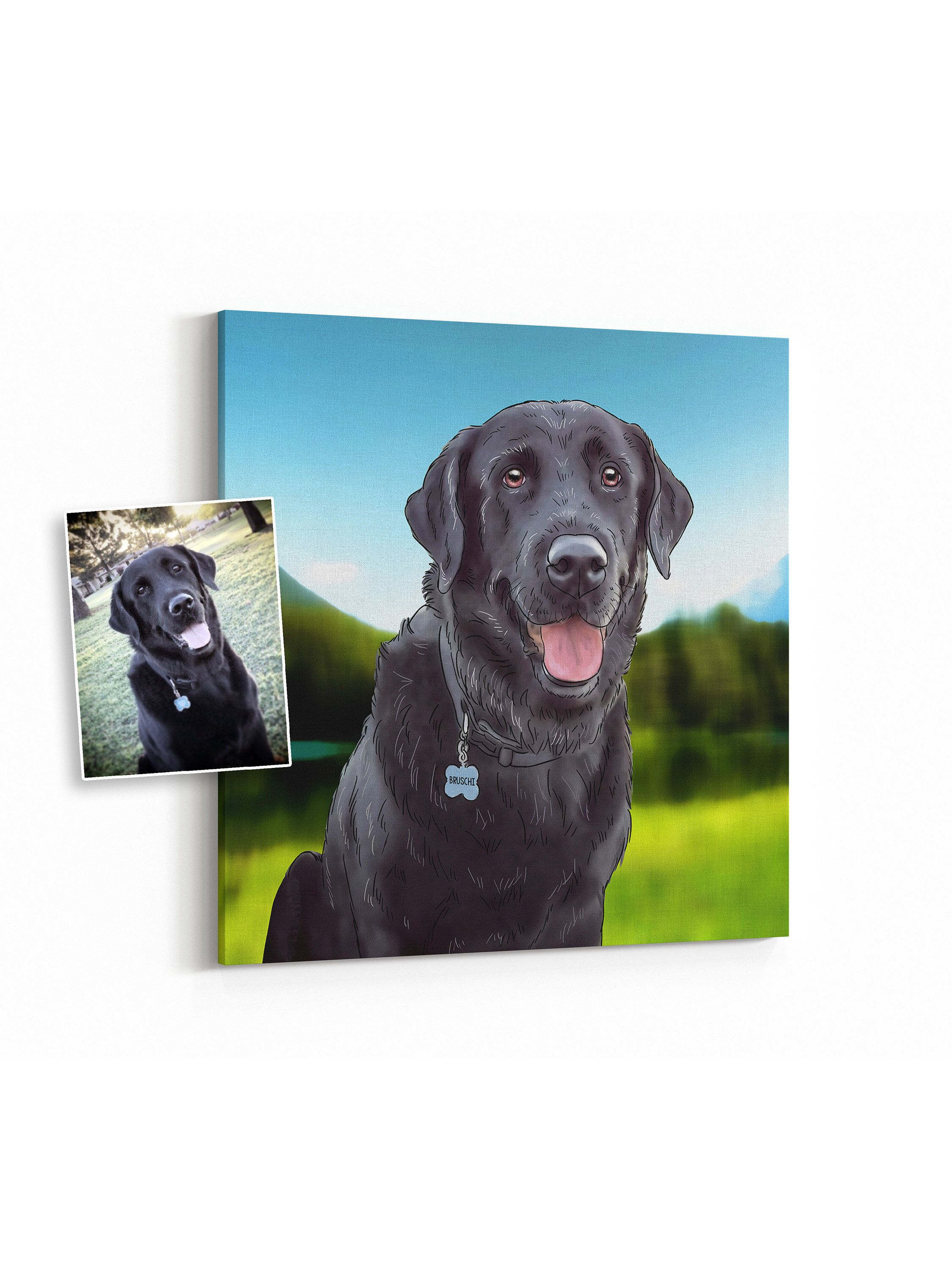 Looking For A Birthday Gift These Portraits Are Perfect Dog Lovers Get Your Portrait Here Custom On Canvas From Photo
