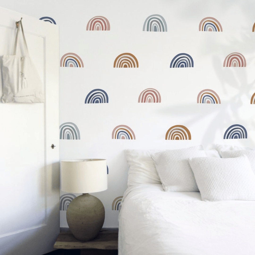 Mini Ombre Rainbow Decals In 2020 Rainbow Wall Decal Rainbow Decal Room Inspiration