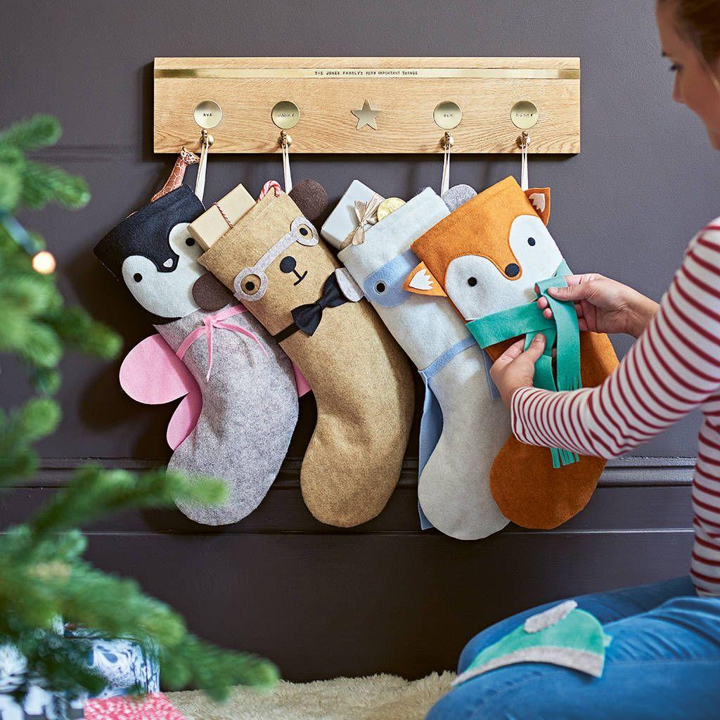 Dress Up Animal Felt Christmas Stocking   Felt christmas ...