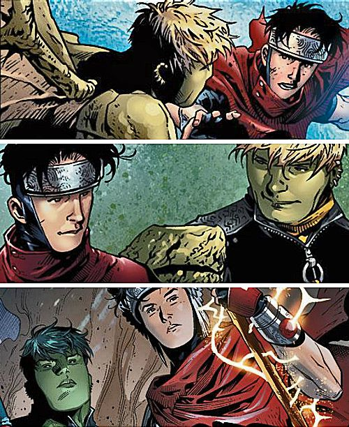 Wiccan and hulkling wedding hairstyles