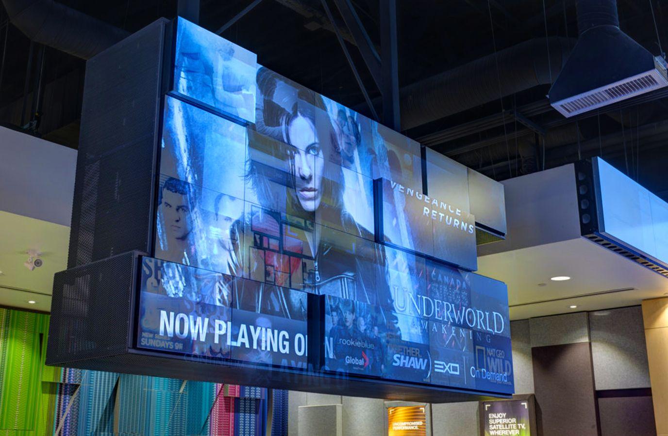 Modular Digital Signage Display Creates Visual Waterfall