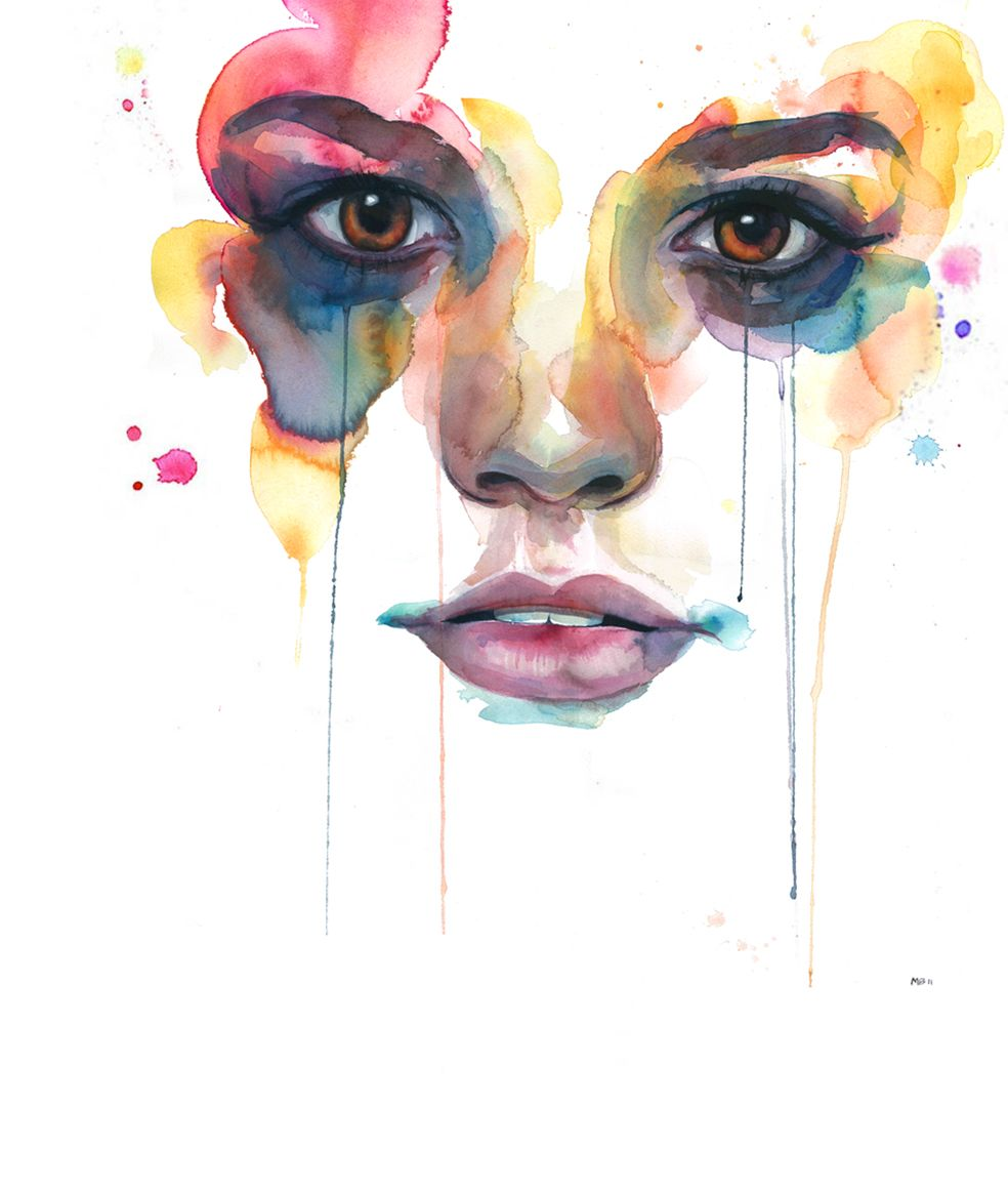 Couleurs Visage A L Aquarelle Art Design Et Inspiration Art