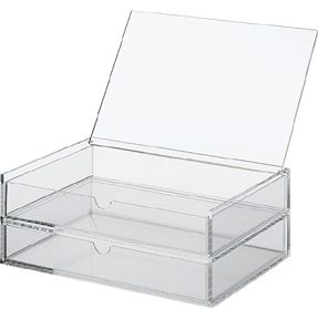 Muji Acrylic Box 2 Drawers With Flip Top Lid Narrow Acrylic Box 2 Drawers With Flip Top Lid Narrow Multipurpose Box Acrylic Storage Muji Muji Online Store