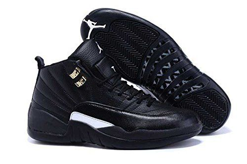a7d944ca121c Nike Air Jordan Retro 12 THE MASTER Youth BIG Kids G.S Black Rattan White  Metallic Gold