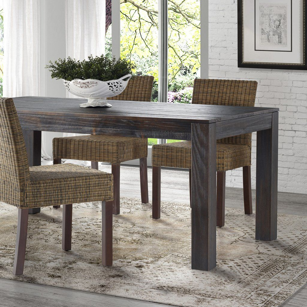 Modern rustic dining room table  Montauk Solid Wood Dining Table  Decor  Pinterest  Solid wood