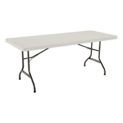 Lifetime 22900 Folding Utility Table 6 Feet Almond Folding