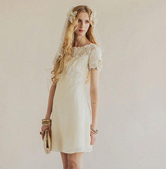 Original Vintage 60s Wedding Dress Crystal by PaperswanBride ...