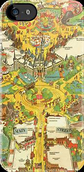 Disneyland Usa Map.Vintage Disneyland Map Main Street Usa I Need Wow Just Wow Disney