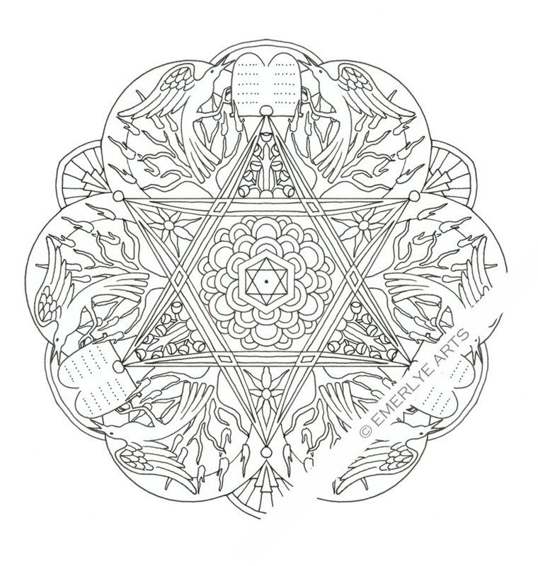 8 Of The Best Most Artful Hanukkah Coloring Pages Star Coloring