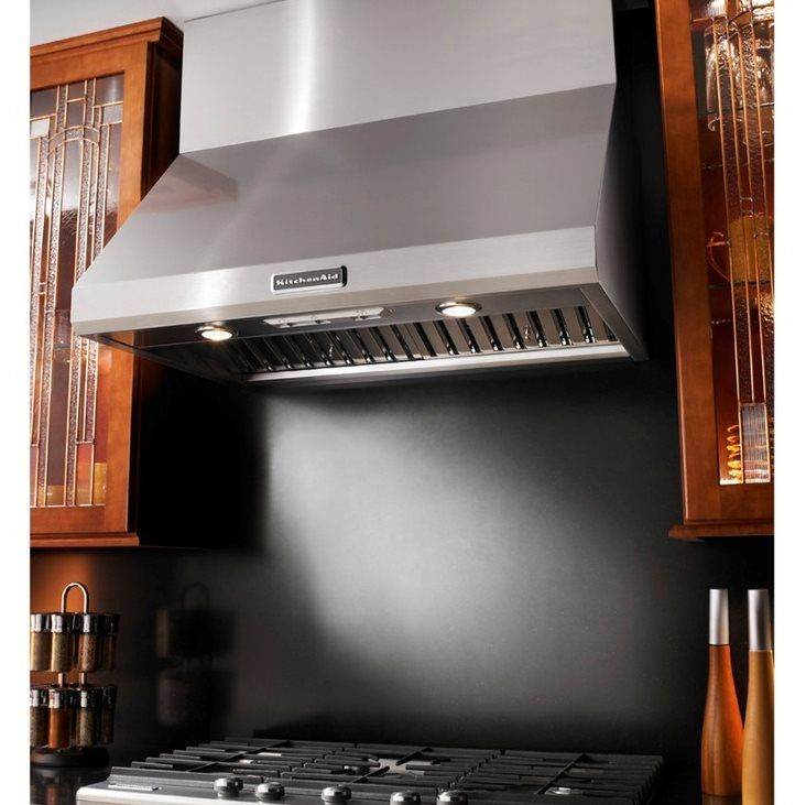 Kitchenaid kxw8736yss 36 in commercial style series wall mounted range hood stainless steel lowes canada
